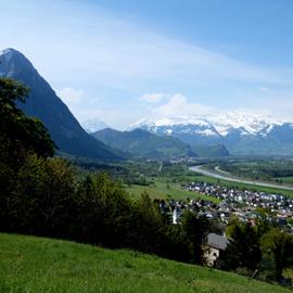 Balzers und das liechtensteiner Oberland